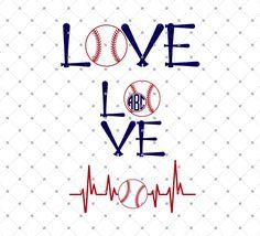 Baseball Love SVG Cut Files