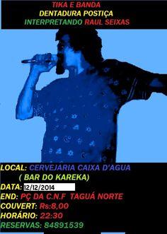 CARTAZ DE DIVULGAÇÃO DO ÚLTIMO SHOW DE 2014.