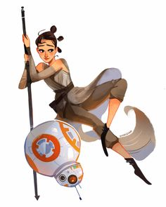 vickisigh:  I loved the new Star Wars! Rey and BB8 are so cute!...