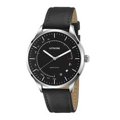 LETSCOM Smart Watch - Analog Quartz Watch and Activity Smartwatch 2-in-1 Unit, Fitness Tracker Watch with Pedometer, Sleep Monitor, Call/Message Vibration, PU Leather /Textured Nylon Band in One Pack *** See this great product. (This is an affiliate link) #SmartWatches