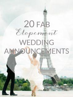 20 Fab Elopement Wedding Announcements
