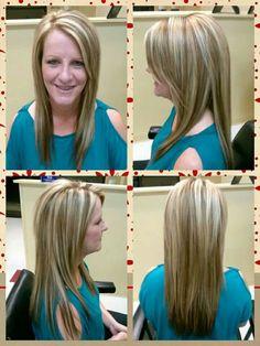 Hair by amanda taylor dothan al.. long hair hilites and carmel lowlights
