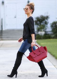 Trendy over the knee boots for winter and fall outfits 12