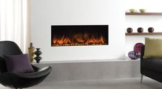 From the sensational Studio Electric Inset fires to Gazco's contemporary 670 electric fires , these built-in electric fires will add stylish warmth to almost any room in your home with the ultimate ease. Inset Fireplace, Floating Fireplace, Interior Design Inspiration, Home Interior Design, Design Interiors, Design Ideas, Electric Wall Fires, Inset Stoves, Alcove Shelving