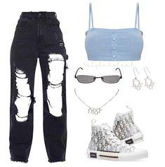 """Style By Leilah compartió una publicación en Instagram: """"⛓"""" • Sigue su cuenta para ver 48 publicaciones. Baddie Outfits Casual, Style Outfits, Cute Swag Outfits, Cute Comfy Outfits, Kpop Fashion Outfits, Tomboy Fashion, Mode Outfits, Retro Outfits, Look Fashion"""