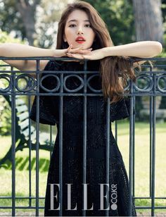 Suzy maintains her girl-next-door image in new shoot with 'Elle' | allkpop.com