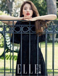 Suzy maintains her girl-next-door image in new shoot with 'Elle' | allkpop.com