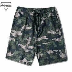 Star Camouflage Print Cargo Shorts Men Military Shorts Slim Fit Fashion Casual Shorts Elastic Short Home