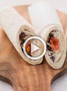Healthy: Vegetarische wraps met falafel en hummus