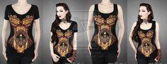 Steampunk Corset T-shirt by Euflonica on deviantART