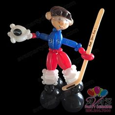 Hockey Player Twisted Balloon Creation, balloon twisting  #PartyWithBalloons
