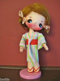 "Vintage RARE Bradley Big Eye Japanese Doll Kimono Dress 13"" Tall 1960'S | eBay"