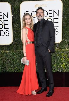 Hilarie Burton and Jeffrey Dean Morgan attend the 74th Annual Golden Globe Awards in Los Angeles on Jan. 8, 2017.