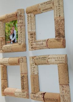 Wine cork photo frame magnet - magnet Bouchon cadre de photo Wine cork photo frame magnet - magnet Bouchon cadre de photo Make 32 coolest wine corks for childrencoolest wine cork craft and DIY decoration Wine Craft, Wine Cork Crafts, Wine Bottle Crafts, Diy Bottle, Crafts With Corks, Cork Frame, Cork Wall, Creative Crafts, Diy Crafts