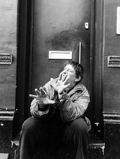 The homeless aren't always unhappy @j.esic.ahall - instagram  #portrait #blackandwhite #photography #documentary