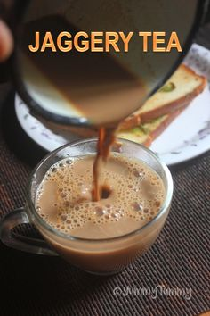 Jaggery tea or Sarkkarai chai. This is a healthy drink which is sweetned with jaggery. Not only it taste delicious but is very comforting too. Milk Tea Recipes, Sweets Recipes, Snack Recipes, Cooking Recipes, Snacks, Indian Drinks, Indian Desserts, South Indian Vegetarian Recipes, Indian Food Recipes