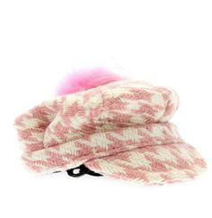 Pink / White Houndstooth Cap