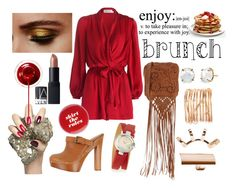 Brunch by istyled on Polyvore featuring polyvore, fashion, style, Zimmermann, Dsquared2, Alberta Ferretti, Rivka Friedman, Gucci, Irene Neuwirth, Repossi, NARS Cosmetics, Kate Spade and clothing