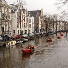 Rescue brigade #reddingsbigade #amsterdam #canals #streetphotography » @tcatandy » Instagram Profile » Followgram