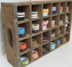 I have a couple of these crates but didn't even think about using them for storage in my craft room.