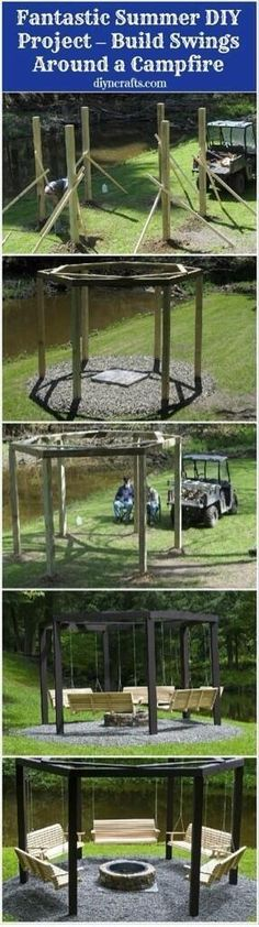 Outdoor swings in a circle! I'm so making this