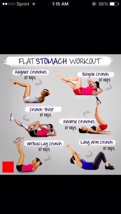 ⚠️ Easy Flat Stomach Workout ⚠️