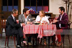 Actors David Brecourt Philippe Lellouche Vanessa Demouy and Christian Vadim perform in the...