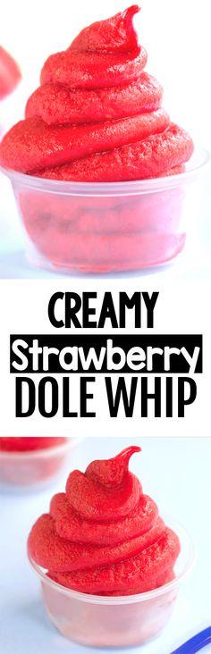 Cold Desserts, Frozen Desserts, Frozen Treats, Just Desserts, Dessert Recipes, Light Desserts, Vegan Desserts, Strawberry Dole Whip Recipe, Easy Baking Recipes