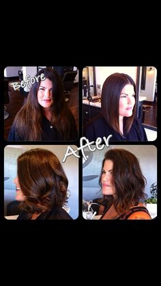 Transformation with versatility. Exaggerated a-line bob.