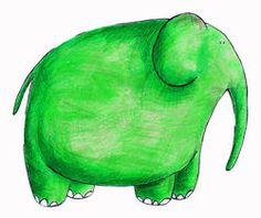 green elephant illustration