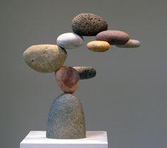 Woods Davy-- stone and (hidden) steel sculptures