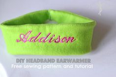 Cute and Quick Simple Sewing Pattern and Tutorial for a Headband Ear Warmer