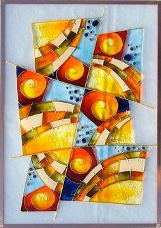 akvarelová malba na skle - Hledat Googlem