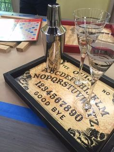 Turn an old (or new) board game into a serving tray! Use them for themed parties, dinners, or even everyday use! DIY by @kennethwingard!