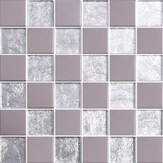 These tiles feature an elegant blend of polished clear glass, shimmering silver crushed foil and polished stainless steel on a mesh sheet. Designed to add contemporary styling to any residential or commercial wall project.
