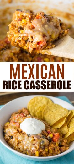 vegetarian mexican rice casserole makes enough to feed a crowd and tastes AMAZING - perfect for meatless monday!This vegetarian mexican rice casserole makes enough to feed a crowd and tastes AMAZING - perfect for meatless monday! Vegetarian Mexican Recipes, Vegetarian Recipes Dinner, Vegan Dinners, Healthy Recipes, Vegetarian Rice Dishes, Mexican Casserole Vegetarian, Dinner Healthy, Vegetarian Recipes For Families, Vegan Casserole