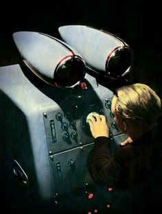 """""""Special oscilloscope used to monitor the performance of the Synchrocyclotron at the Institute of Nuclear Problems, USSR Academy of Sciences."""" (Google translation from Russian) - 'Soviet Union' magazine, 1955."""