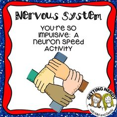 You're So Impulsive Nervous System Lab about Neuron speed activity Human Body Science, Human Body Unit, Human Body Systems, Teaching Science, Science Education, Life Science, Health Education, Physical Education, Middle School Science Projects
