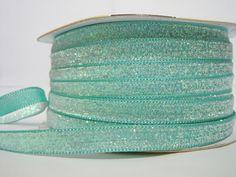 Craft supplies and Handmade Tassels by ichimylove Teal Ribbon, Glitter Ribbon, Green Glitter, Velvet Ribbon, Bulk Ribbon, How To Make Headbands, How To Make Bows, Wholesale Ribbon, Purse Handles
