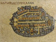 6th century map of Jerusalem