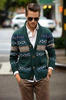 Shawl collar cardigan: A/W 14/15 men's knitwear commercial update