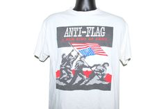 1999 Anti-Flag A New Kind Of Army Vintage Classic Political Pop Punk Rock Band T-Shirt