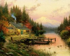 End of A Perfect Day I Paper All Other Kinkade Prints | eBay