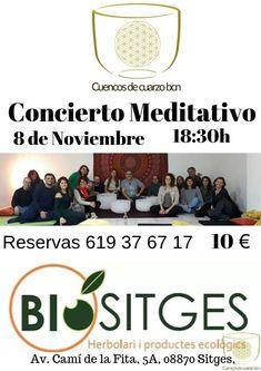 Regreso a Sitges!! Os invito a participar del concierto meditativo y a disfrutar de los amplios beneficios del sonido terapéutico de mis Cuencos de Cuarzo. Sitges, Concert
