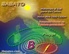 Insidioso vortice mediterraneo in arrivo: le aree a rischio forte MALTEMPO