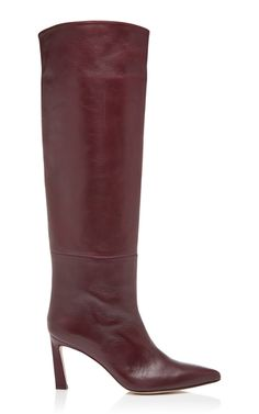 939858af230a Shop Emiline Leather Boots. Stuart Weitzman s boots are crafted from smooth  leather in a rich