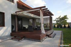 Pergola With Retractable Canopy Code: 3317871440 Diy Pergola, Wood Pergola, Deck With Pergola, Outdoor Pergola, Pergola Shade, Pergola Ideas, Backyard Patio Designs, Pergola Designs, Patio Plan