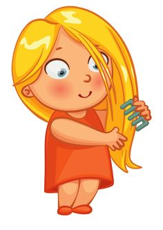 Combing their hair little girl, Child, Cartoon, Childlike PNG Image Wordpress Theme, Hair Clipart, Education Positive, Action Words, Animation, Baby Learning, Girl Cartoon, Speech Therapy, Life Skills