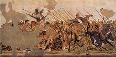 Alexander de Grote mosaïek uit het huis van de Faun, Pompeï, Nationaal Archeologisch museum, Napels | Campania