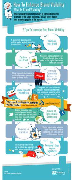 Cómo mejorar la visibilidad de tu #marca #infographic #infografia